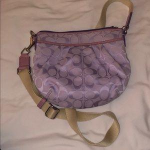 Lavender Coach crossbody purse
